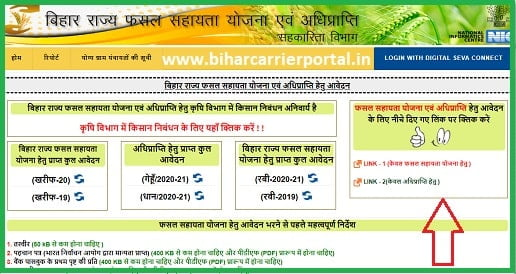 Bihar Rajya Fasal Sahayata Yojana 2021