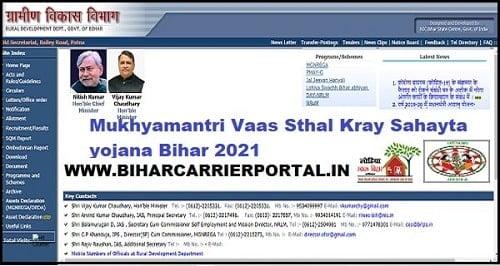 Mukhyamantri Vaas Sthal Kray Sahayta yojana Bihar