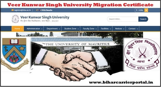 Veer Kunwar Singh University Migration Certificate Online Apply, Download
