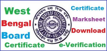 West Bengal Board Marksheet 2021: WB Board 10th   12th Marksheet Certificate Verification Download