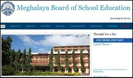 Meghalaya Board 10th | 12th Certificate Marksheet Download 2021