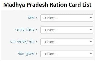 New Ration Card List MP 2021