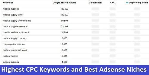 Highest CPC Keywords and Best Adsense Niches
