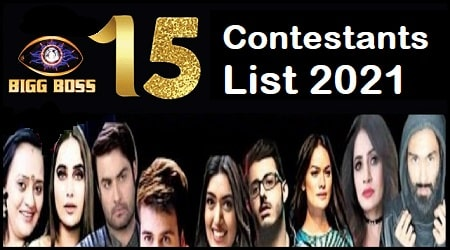 Bigg Boss 15 Contestants List 2021 Names Available Now